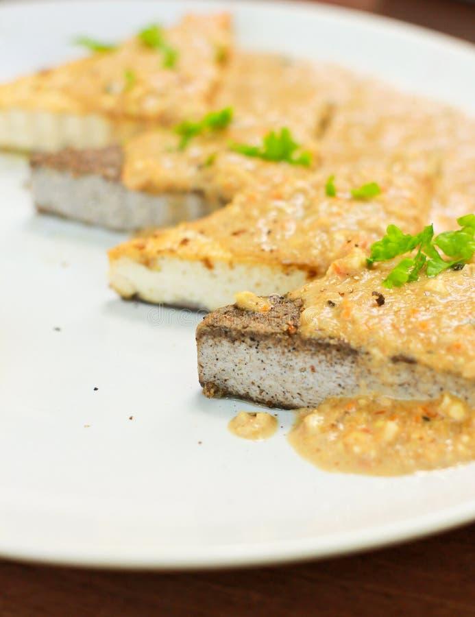 Download Vegetarian tofu steak stock photo. Image of gravy, healthy - 26500748