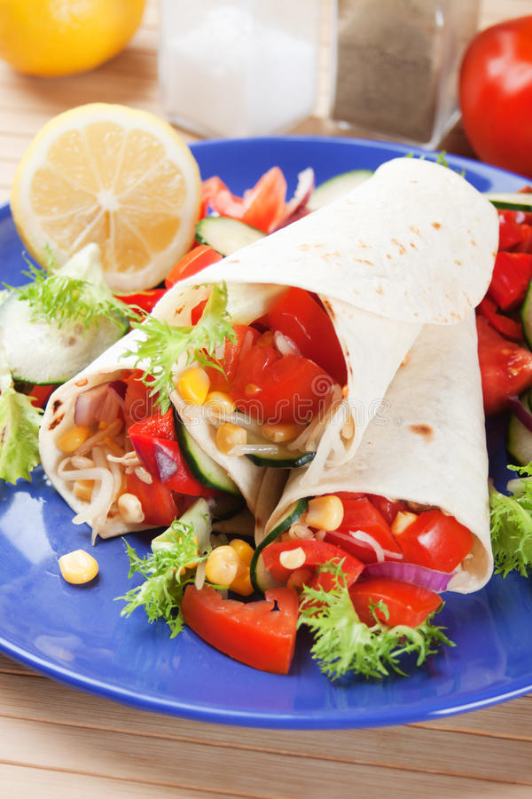 Download Vegetarian tortilla wraps stock image. Image of photograph - 24346201