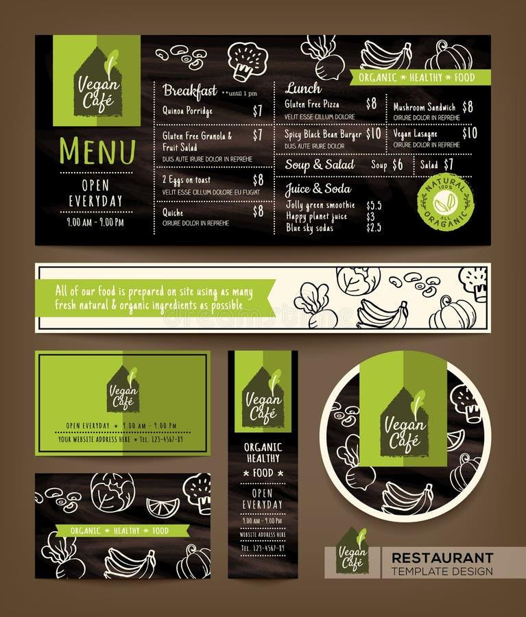 Vegetarian and vegan healthy restaurant cafe set menu