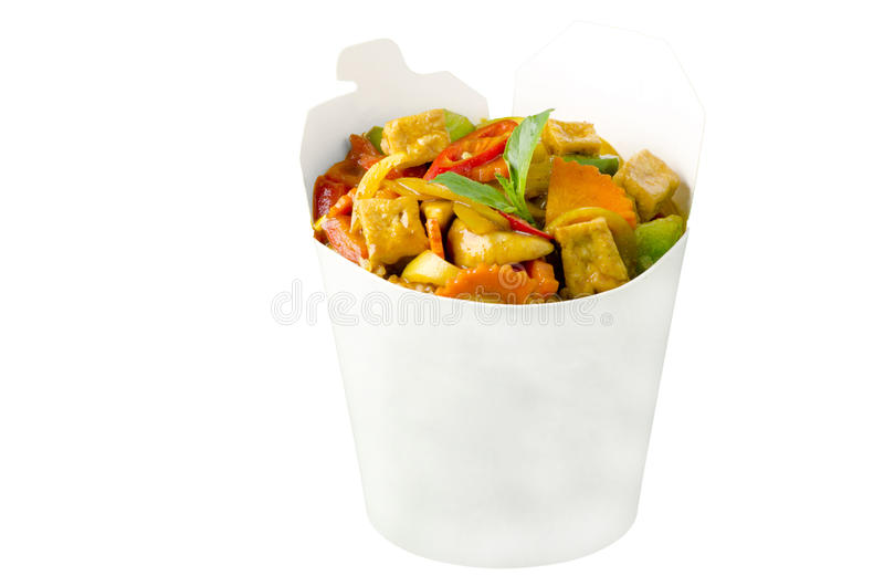 Vegetarian wok meal stock image