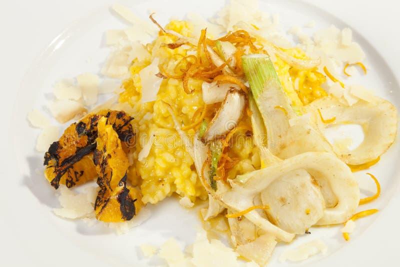 Vegetariana italiano do risoto fotografia de stock