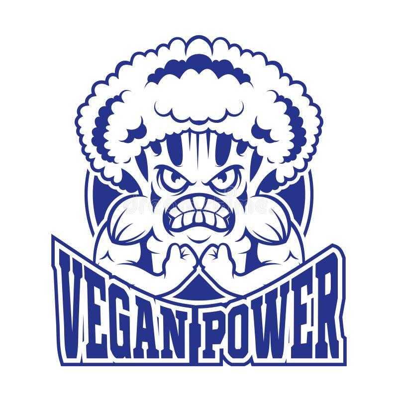 Vegetariano do logotipo ilustração stock