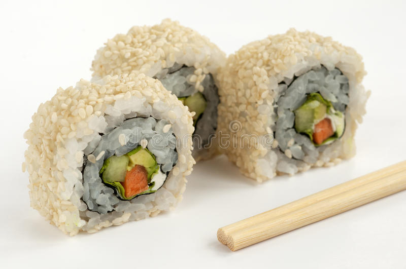 Vegetariano do sushi foto de stock