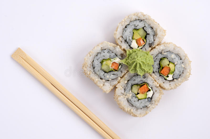 Vegetariano do sushi fotografia de stock royalty free