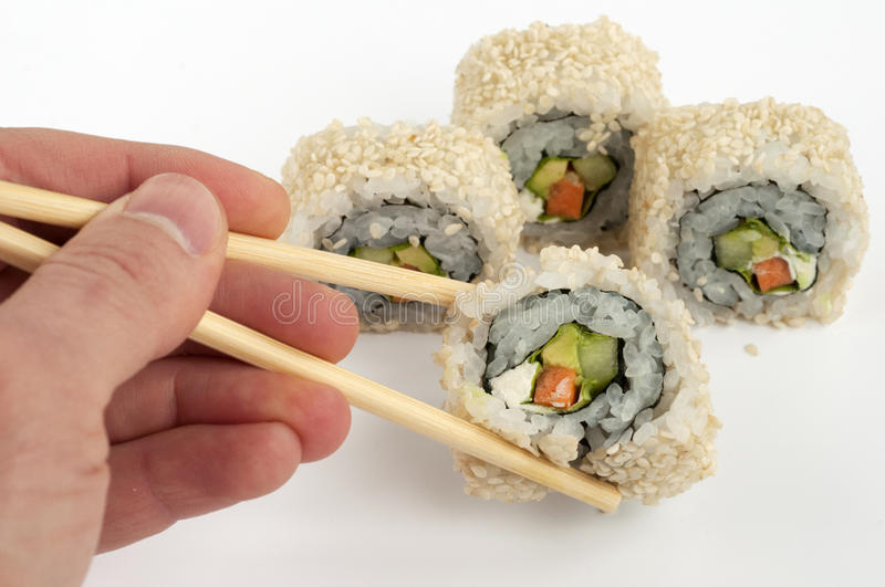 Vegetariano do sushi imagem de stock royalty free