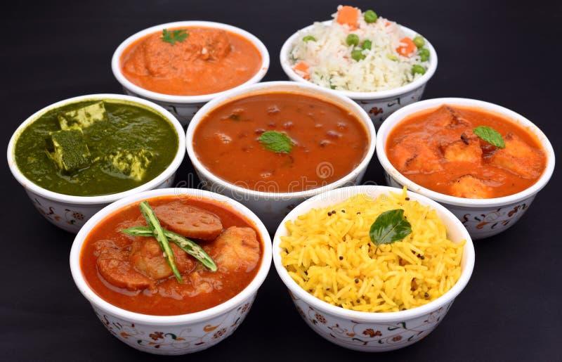 Vegetariano indiano del pasto fotografie stock