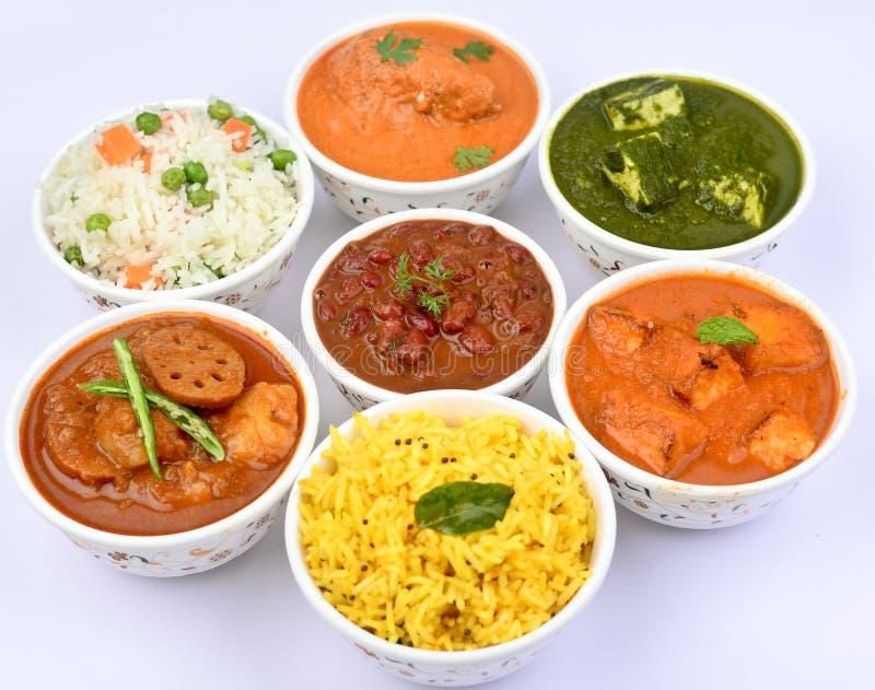 Vegetariano indiano del pasto-Non immagine stock