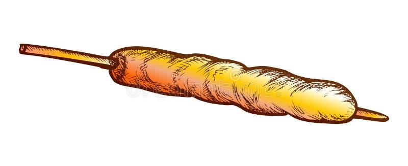 Vegetariano kebab Vector de color de comida rápida libre illustration