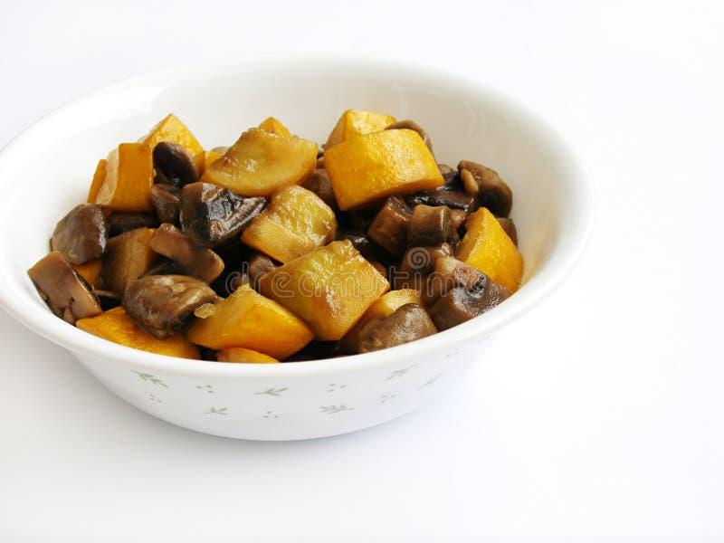 Vegetariano organico fritto Stir   immagine stock