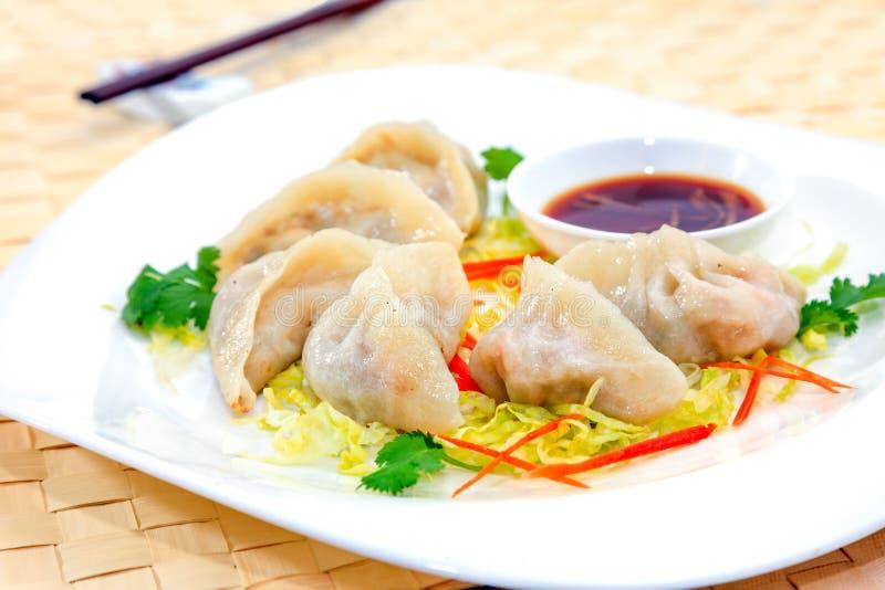 Vegetariano Pan Fried Dumpling fotos de stock