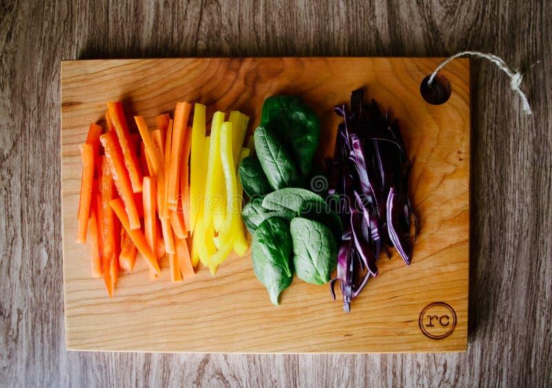 Vegetarianos do arco-íris fotos de stock royalty free