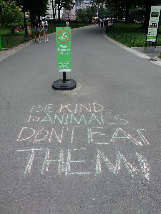 Vegetarians, Be Kind to Animals, Don`t Eat Them royalty free stock photos