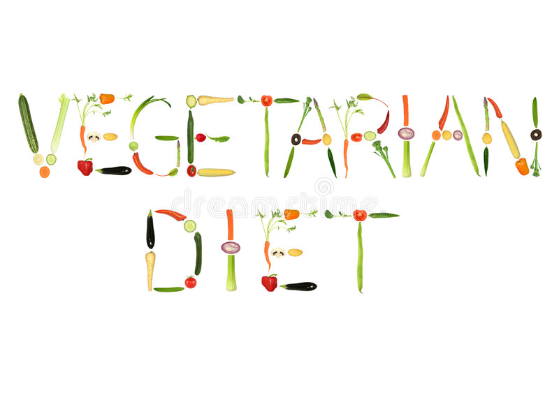 Vegetarisch Dieet stock illustratie