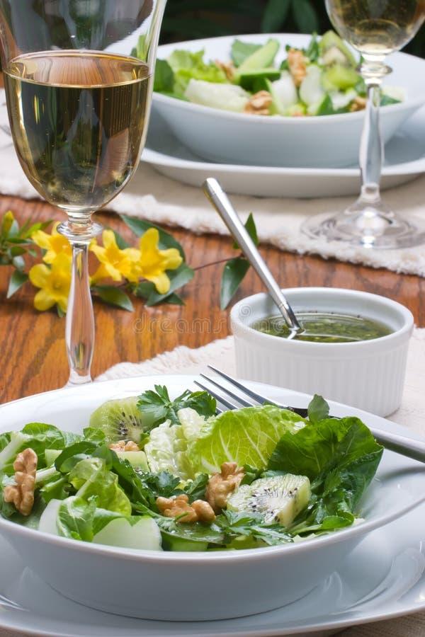 Vegetarisch diner stock foto's