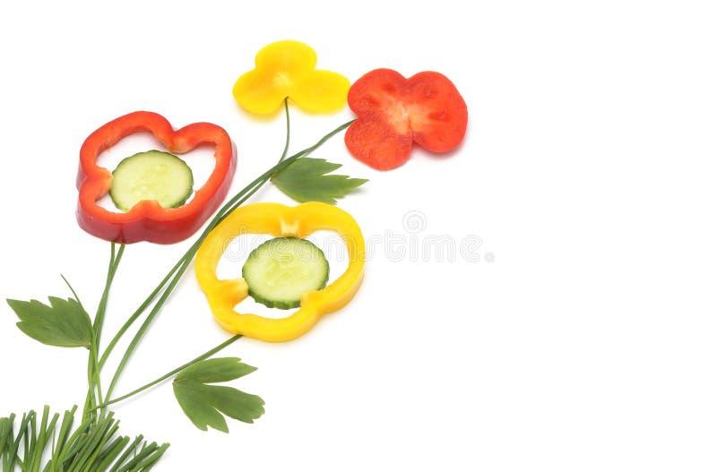 Vegetarisch gezond voedsel royalty-vrije stock afbeelding