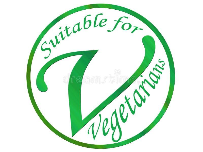 Vegetarisch symbool vector illustratie