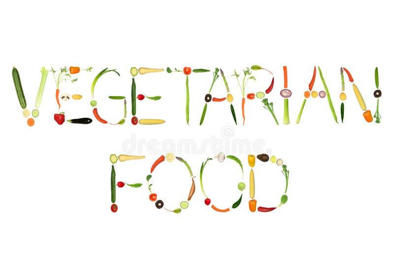 Vegetarisch Voedsel royalty-vrije illustratie