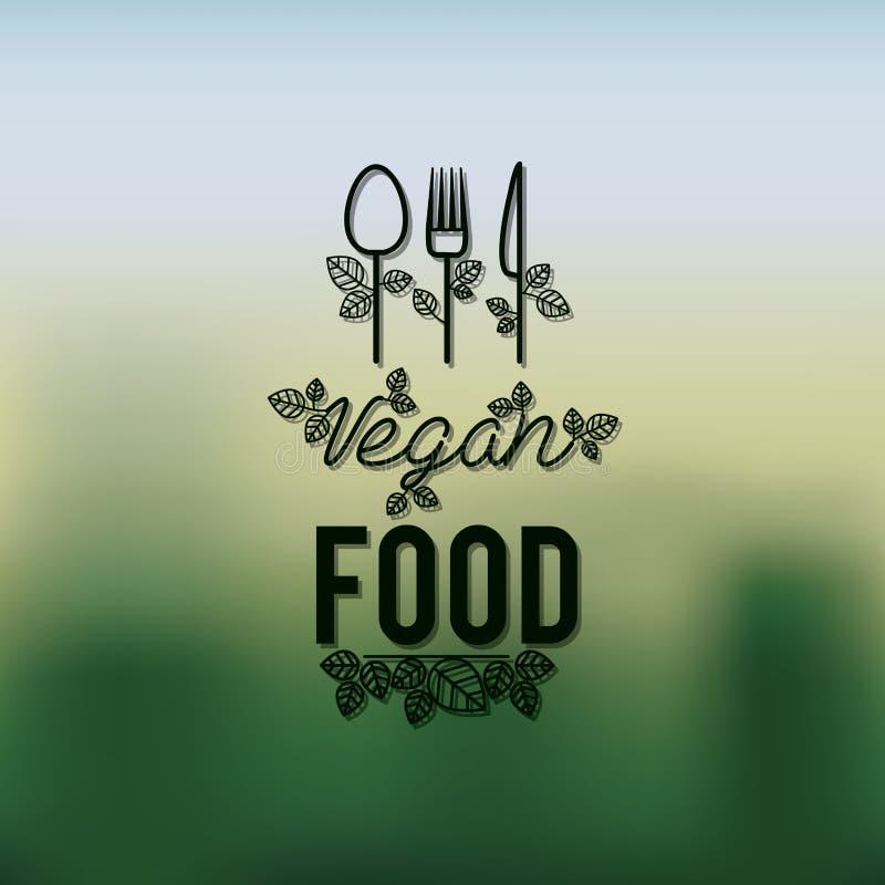 Vegetarisch voedselontwerp stock illustratie