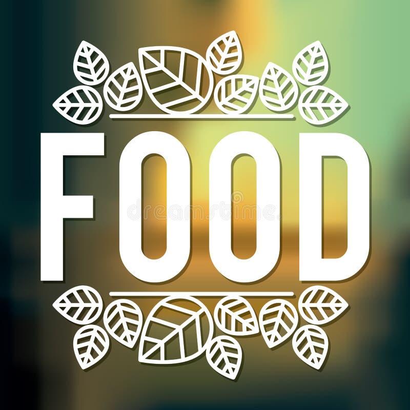 Vegetarisch voedselontwerp vector illustratie
