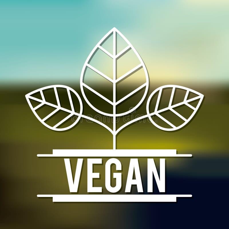 Vegetarisch voedselontwerp royalty-vrije illustratie