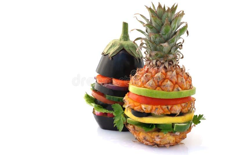 Vegetarische burgers stock afbeelding