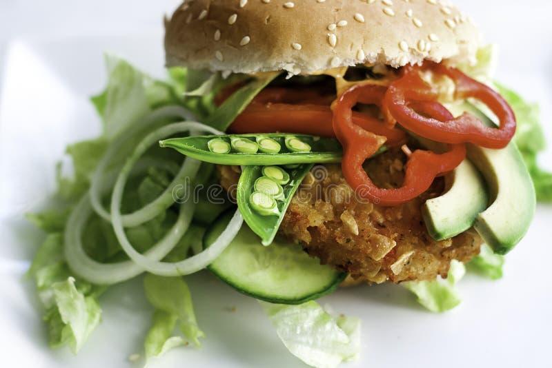 Vegetarische hamburger stock afbeelding