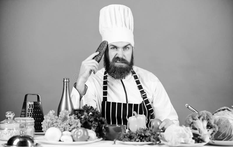 Vegetarische koffie van de Hipster de belangrijkste chef-kok Vegetarisch receptenconcept Kies vegetarische levensstijl De greep v stock foto's