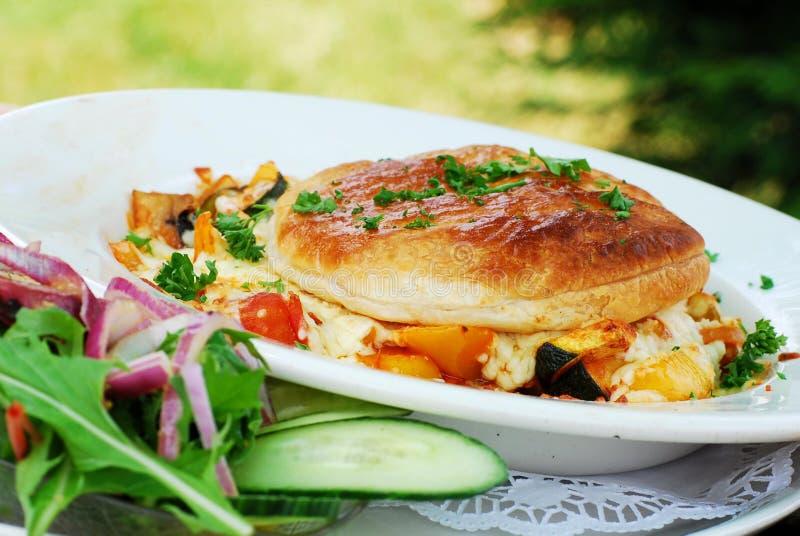 Vegetarische maaltijd royalty-vrije stock afbeeldingen