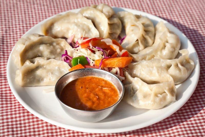 Vegetarische Nepalese momo royalty-vrije stock afbeelding