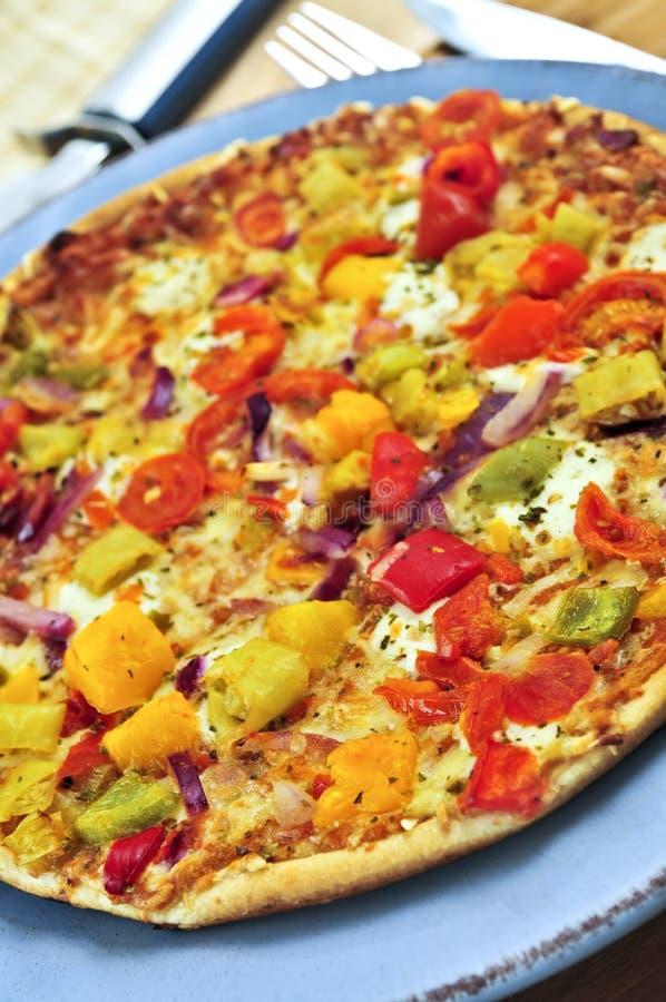 Vegetarische pizza royalty-vrije stock afbeelding