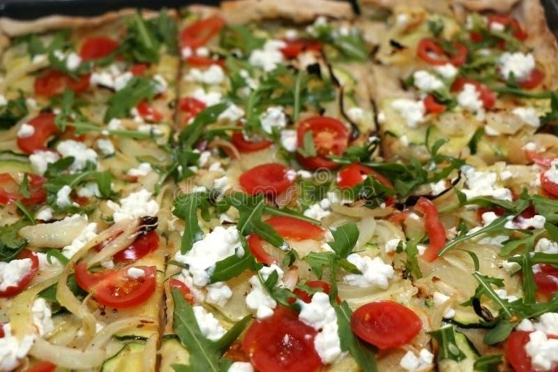 Vegetarische Pizza stock fotografie