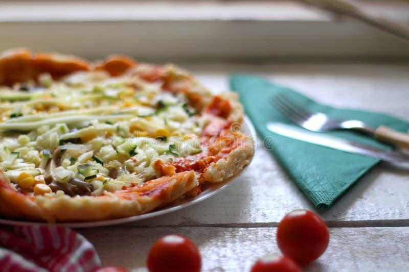 Vegetarische Pizza stock foto's