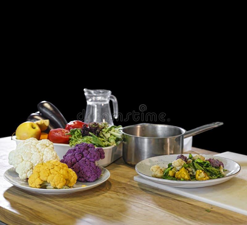 Vegetarische producten, het gezonde eten, gezond voedsel, schoon water, stock fotografie