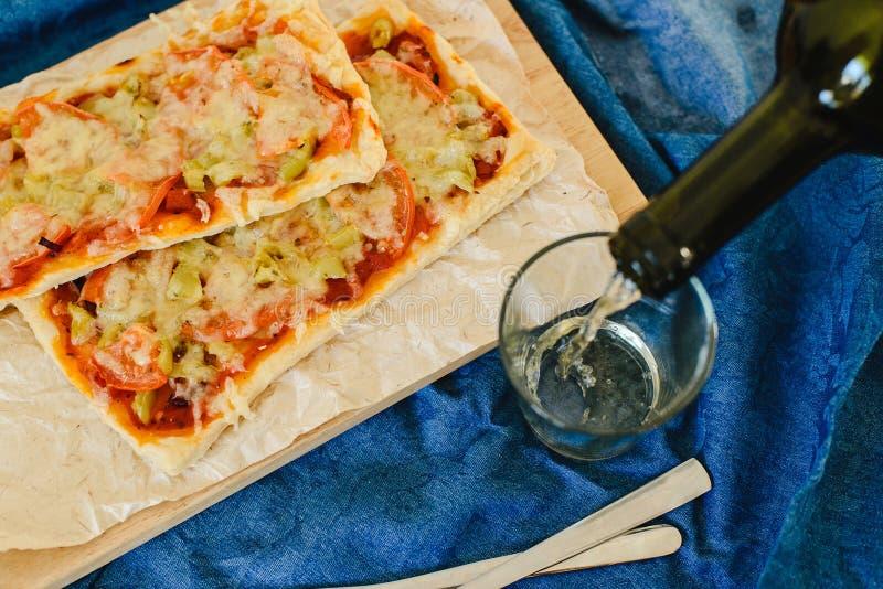 Vegetarische rechteckige Pizza lizenzfreie stockfotografie