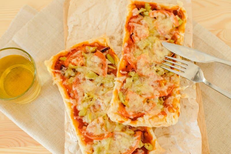 Vegetarische rechteckige Pizza stockfotografie