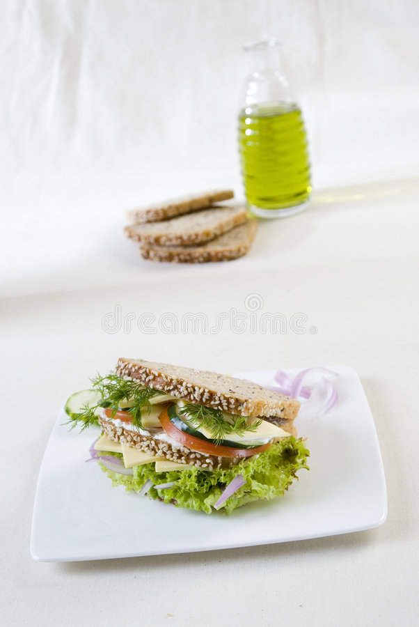 Vegetarische sandwich royalty-vrije stock foto