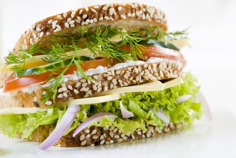 Vegetarische sandwich stock afbeelding