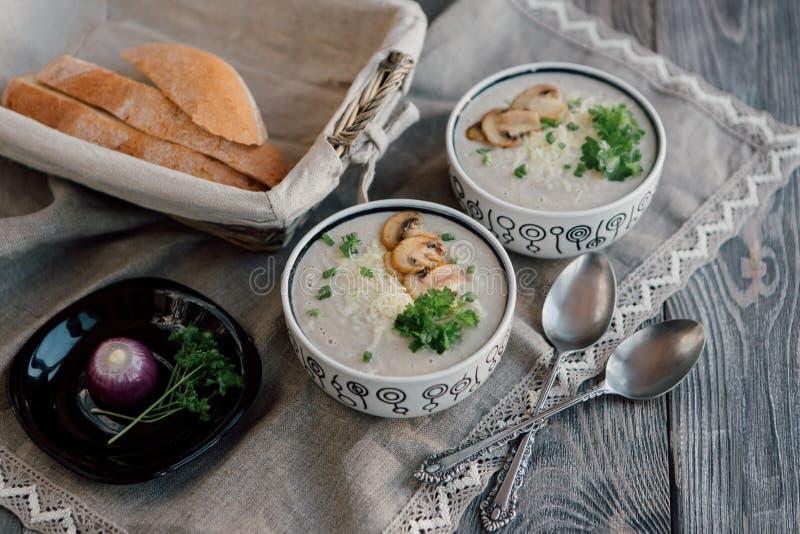 Vegetarische soep stock fotografie