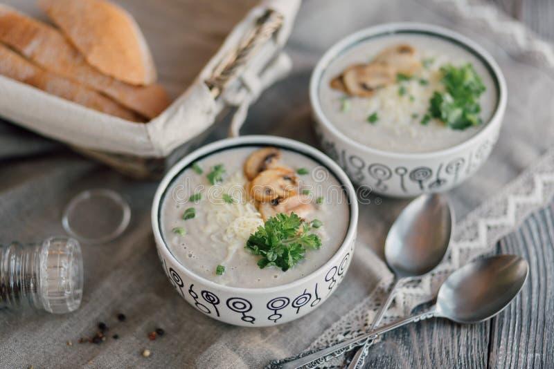 Vegetarische soep royalty-vrije stock afbeeldingen