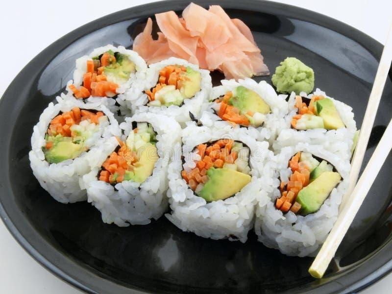 Vegetarische Sushi stock foto's