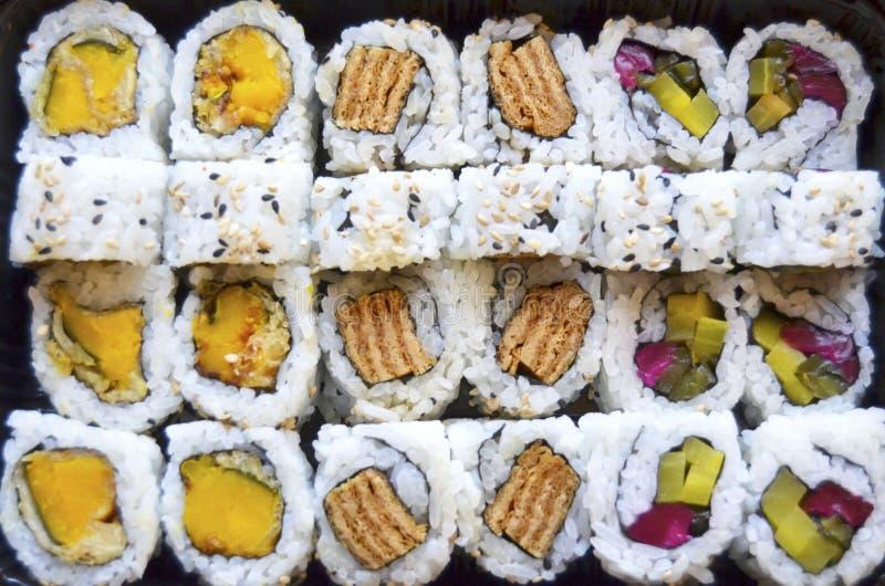 Vegetarische sushi stock fotografie