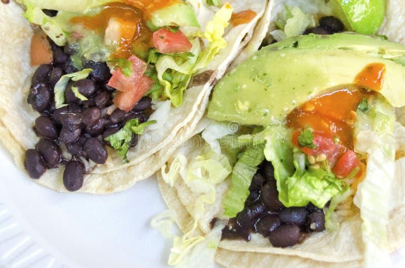 Vegetarische Taco's royalty-vrije stock afbeeldingen
