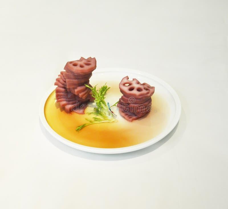 Vegetarische Teller, traditionelle chinesische Nahrung stockbilder