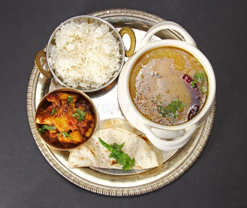 Vegetarische Thali royalty-vrije stock foto