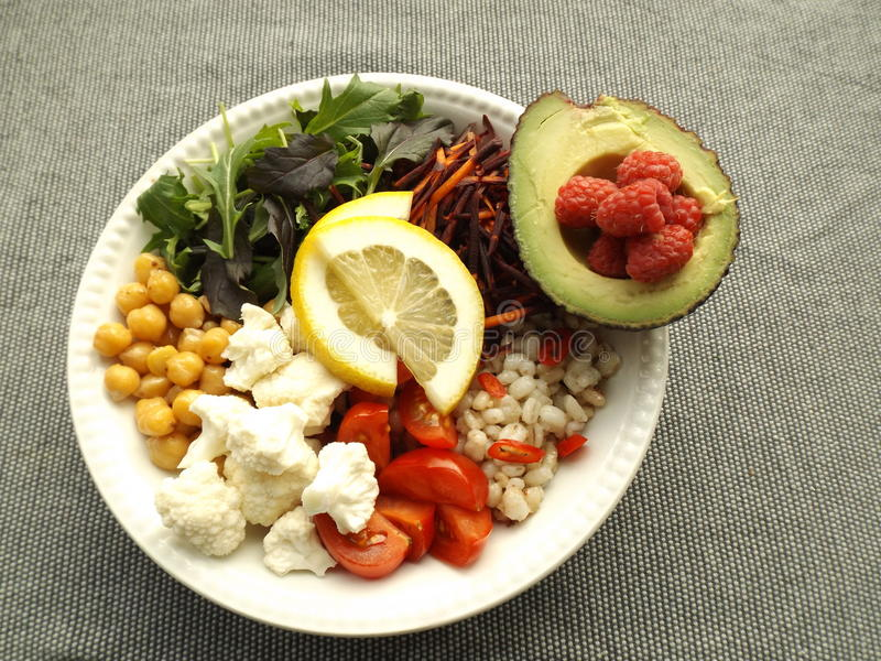 Vegetarischer Salat stockbild