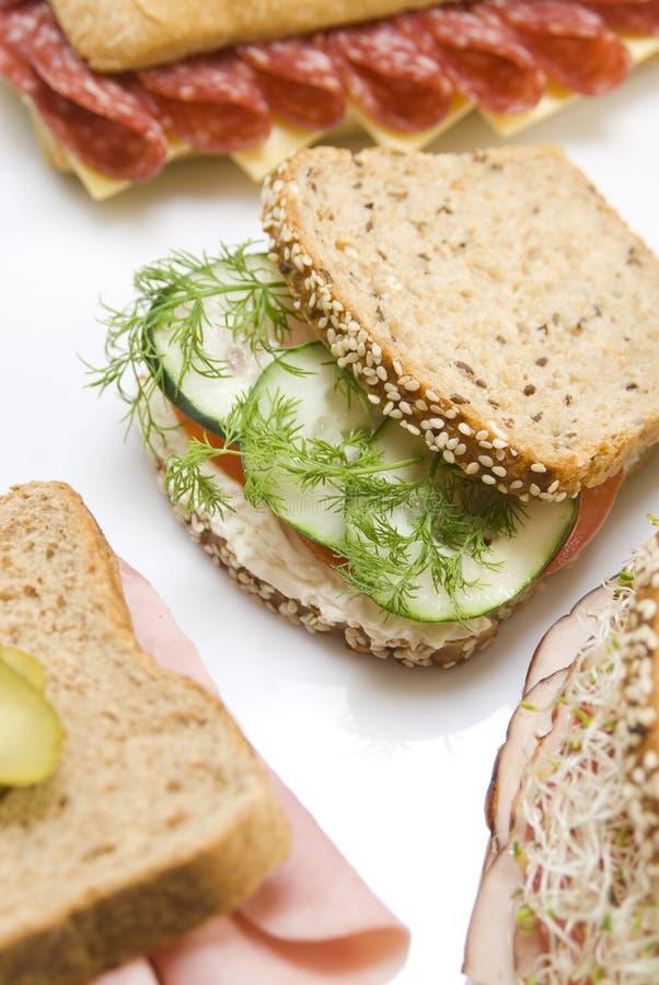 Vegetarisches Sandwich stockfoto