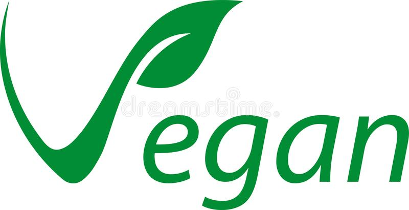 Vegetarisches Symbol-, Blatt-und Betriebslogo, Logo des strengen Vegetariers, Ikone des strengen Vegetariers lizenzfreie abbildung