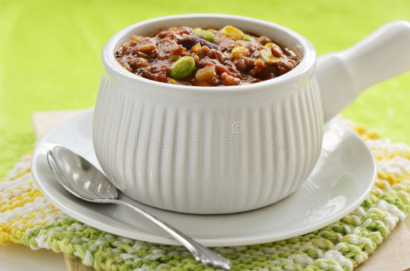 Vegetarisk chili royaltyfria bilder