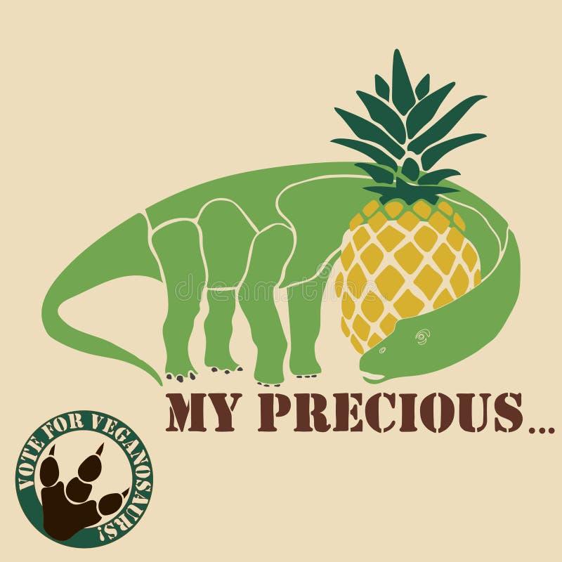 Vegetarisk dinosaurie royaltyfri illustrationer