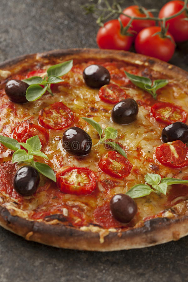 Vegetarisk pizza royaltyfri bild